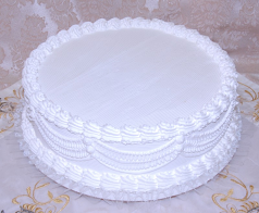 White Wedding fake Cake with Lace 16 Inch USA