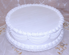 White Wedding fake Cake with Lace 20 Inch USA