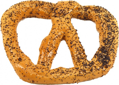 Pretzel Large 6 inch Poppy Seed Fake Pretzel USA
