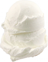 Vanilla 2 Scoop fake ice cream NO CONE USA