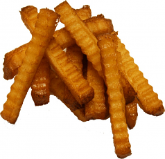 Crinkle Cut Fries 10 piece fake food USA