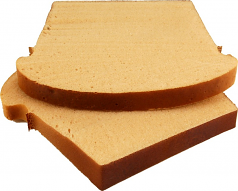 Wheat Bread Slice 2 piece fake bread USA
