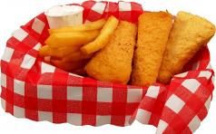 Fish and Chips fake food Basket USA