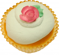 Green Pink Rose Fake Cupcake USA