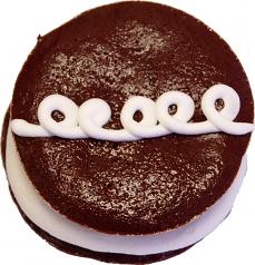 Chocolate and cream mini fake cake 3 INCH USA