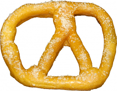 Pretzel Large 6 inch Salt Fake Pretzel USA