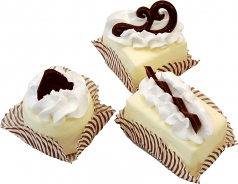 Mini Fakey Designer Cream Cakes 3 pack Petit Fours USA