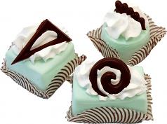 Mini Fakey Designer Pale Green Cakes 3 pack Petit Fours USA