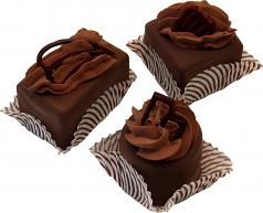 Mini Fakey Designer Chocolate Cakes 3 pack Petit Fours USA