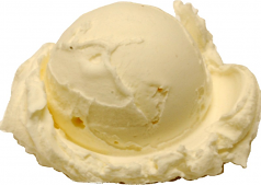 Vanilla Single Scoop fake ice cream NO CONE USA