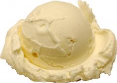 Vanilla Single Scoop fake ice cream NO CONE USA