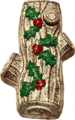 Yule Log Chocolate Fake Cake Decorated USA