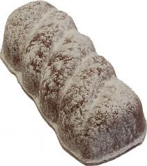 Chocolate Cruller Fake Doughnut with Powdered Sugar USA