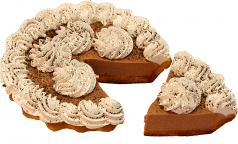 Chocolate Mousse Artificial Pie with Slice Fake Pie USA