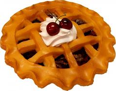 """Potpourri Pie 9"""" Cherry Fragrance Fake Food USA"""