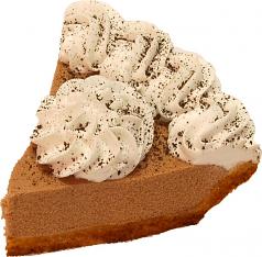 Chocolate Mousse Fake Pie Slice USA