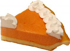 Pumpkin Pie Cream Fake Pie Slice USA