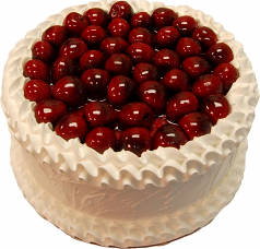 Cherry White Gel Cake 9 inch USA