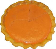 Pumpkin Pie Plain Artificial Pie with Slice Fake Pie USA