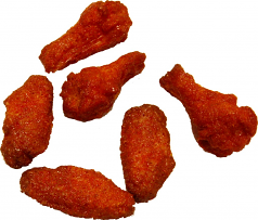Buffalo Fake Wings Red Sauce 6 Chicken Wings Artificial Food U.S.A.