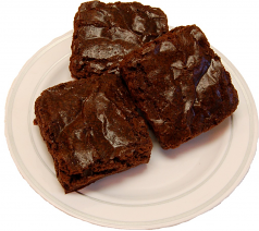 Chocolate Fake Brownies 3 Pack Plate USA