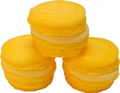 Lemon Yellow Fake Macarons (Macaroon) with Cream 3 Pack U.S.A.