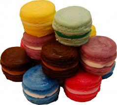 Fake Macarons (Macaroon) with Cream 12 Pack Assorted U.S.A.