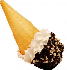 Vanilla Chocolate Swirl Spill fake Ice Cream Waffle Cone