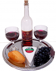 Cheese and Wine Tray fake cheese USA