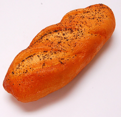 French Loaf soft touch Poppy Seed Small 11 inch fake food USA