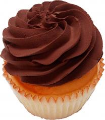 Chocolate Plain Fake Cupcake