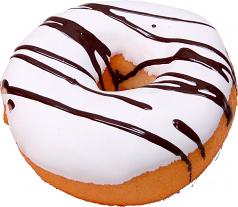 Fake Doughnut Vanilla Chocolate soft touch Donut