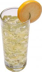 Lemonade with ice fake drink Glass USA