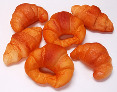 Croissant 6 pack Assorted Fake Bread USA