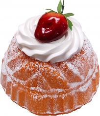 Large Bundt Cake Vanilla Strawberry Fake Food USA