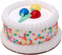 "Celebration Vanilla 6"" Fake Cake U.S.A."