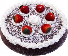Chocolate Strawberry Fake Sponge Cake U.S.A.