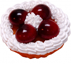 Cherry Fake Fruit Tarts 3 inch USA