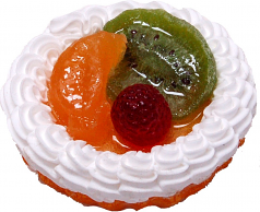 Mixed Fake Fruit Tart 3 inch USA