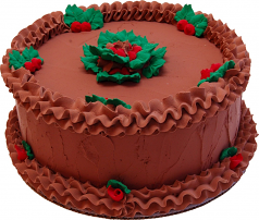 "9"" Christmas Chocolate Holly Fake Cake USA"