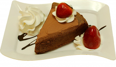 Chocolate Cake and Strawberry Fake Dessert Plate USA