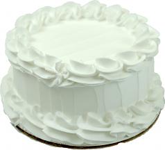 White Plain Fake Cake 6 inch Blank USA