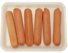 Raw Fake Hot Dogs 6 pack USA