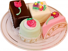 Mini Fakey Cakes 4 pack Petit Fours USA