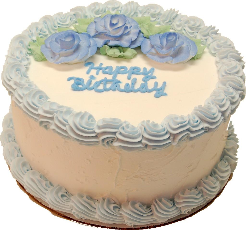 Blue Birthday Cake 9 Inch With Happy Birthday Text High Quality