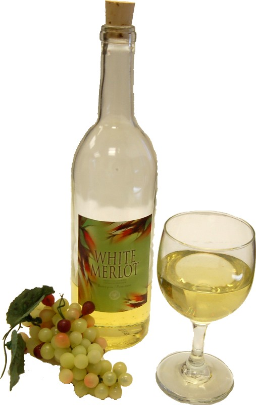 White wine set glass fake drink flora for Cocktail usa