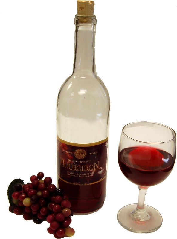 Red wine set glass fake drink flora cal for Cocktail usa