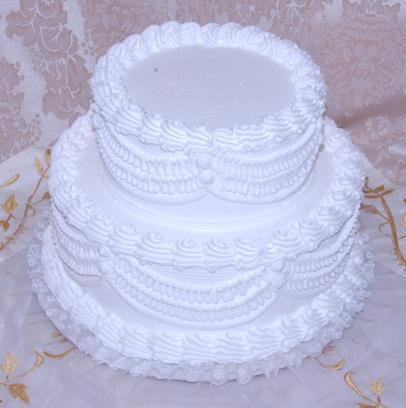 12 inch wedding cake white two tier stacked wedding cake with lace 12 inch 10023