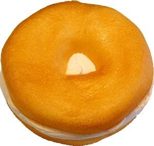 Cream Cheese Fake Food Soft Touch Bagel Plain USA