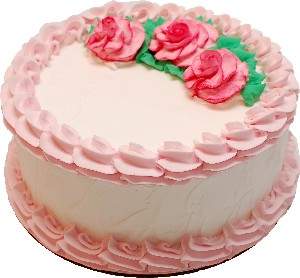 Pale Pink Rose Blank Fake Cake USA